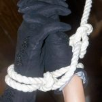 Wicked Wednesday Gloves and Rope ~ Black and White
